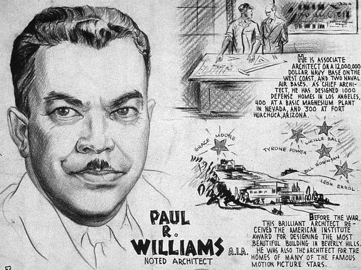 """PAUL R. WILLIAMS, A.I.A. - NOTED ARCHITECT"""