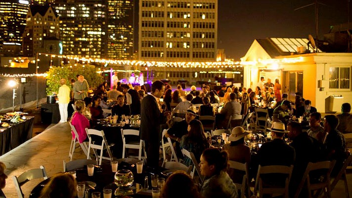 A Taste of the Caribbean rooftop party at LAAC