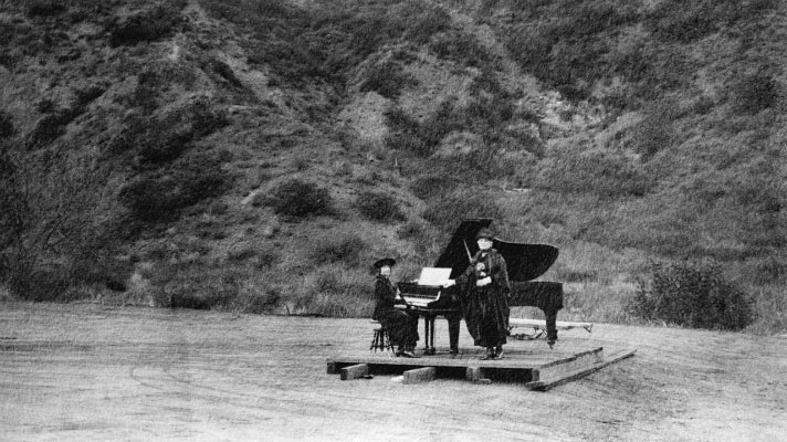 The first known musical event at the Hollywood Bowl, ca.1920