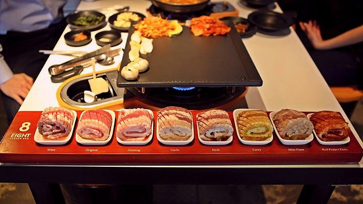 Eight Flavors of Pork Belly at Eight Korean BBQ