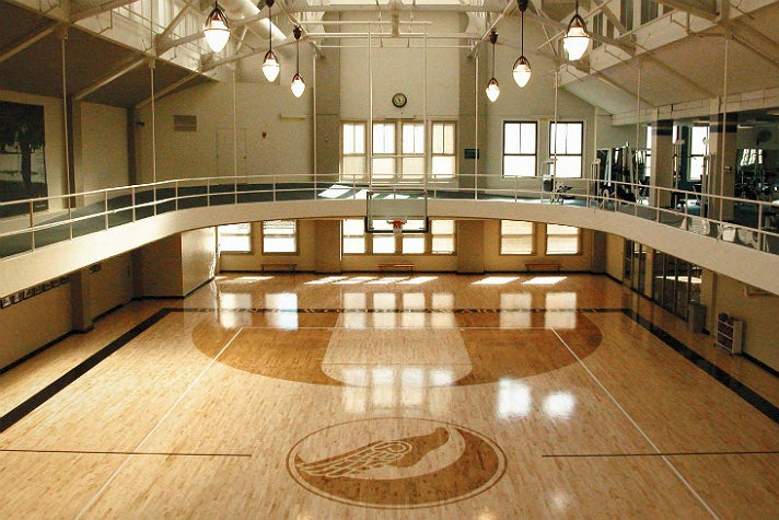 Basketball court at the Los Angeles Athletic Club
