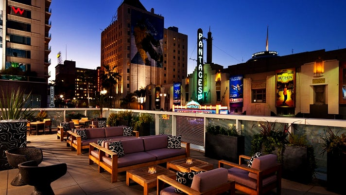 Pantages Theatre viewed from the W Hollywood Hotel