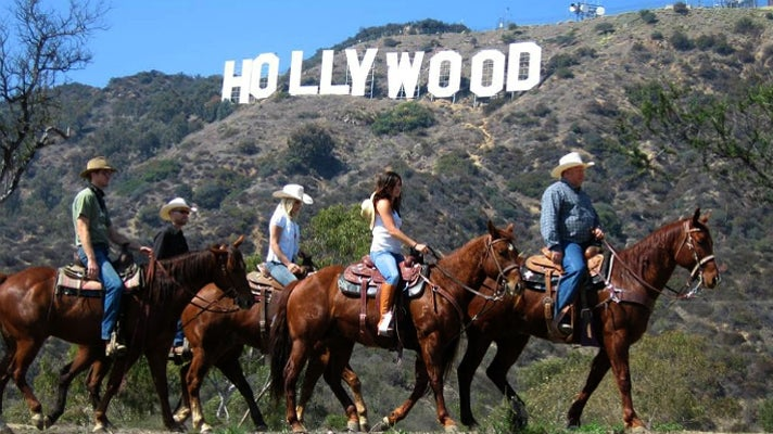 Hollywood Sign viewed from horseback