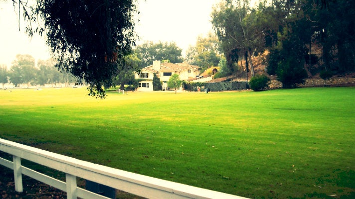 Polo field at Will Rogers State Historic Park