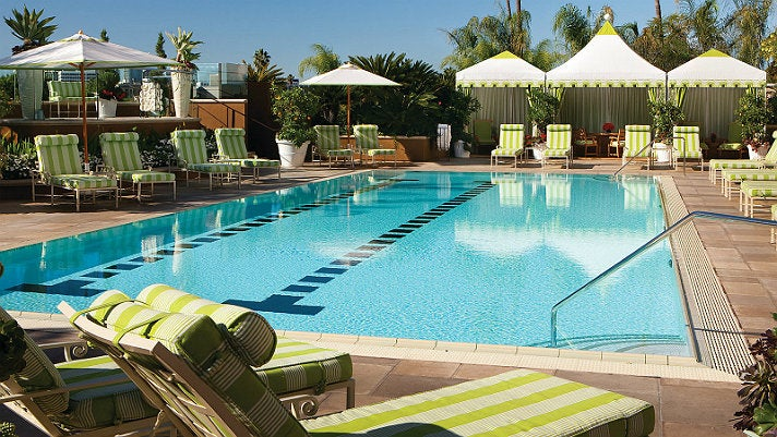 Upper Pool Deck at the Four Seasons Los Angeles at Beverly Hills