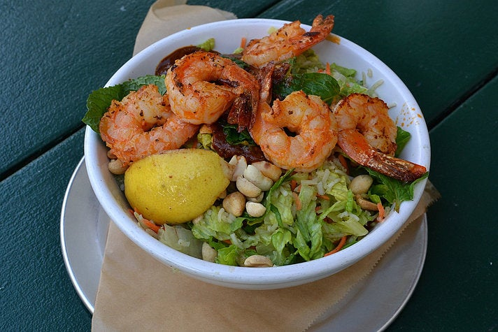 Spicy shrimp bowl at Lincoln