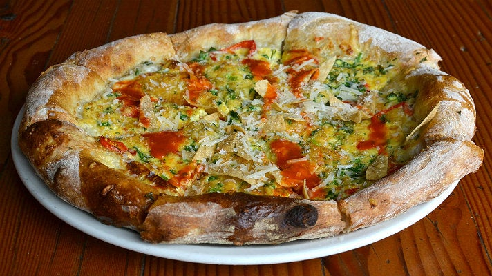Chilaquiles pizza at Stella Barra
