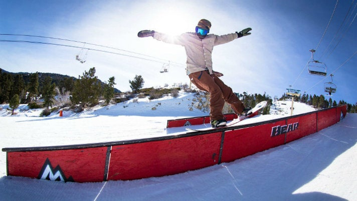 Snowboarder at Bear Mountain