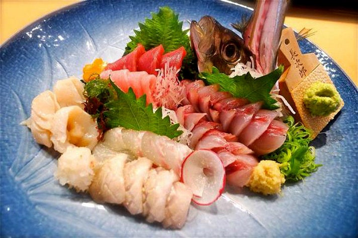 Assorted sashimi at Asanebo